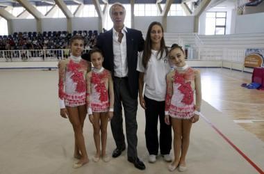 Il Presidente Malagò in visita agli impianti sportivi di Caserta.
