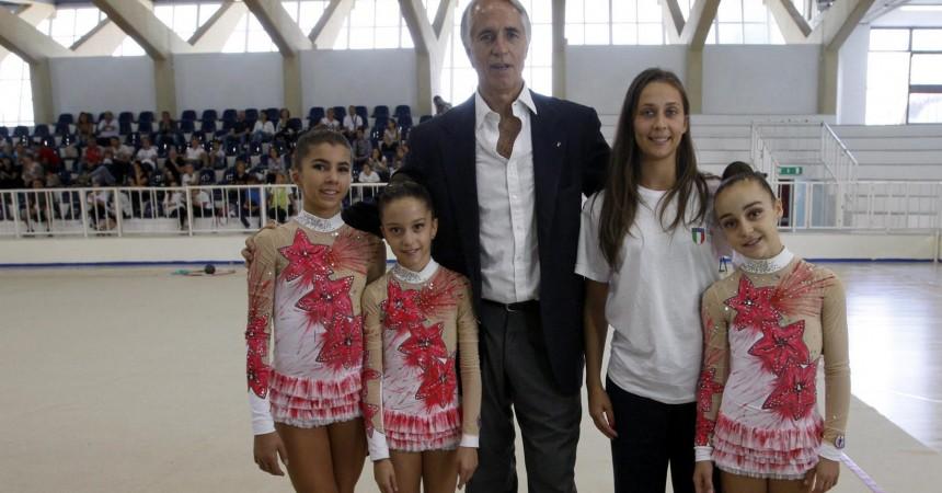 101014 trofeo coni il presidente malagò  partecipa ai convegni del panathlon  e di delegati regionali e visita i cmpi di gara foto ag. frattari