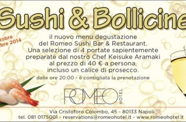 Sushi e bollicine: al Romeo Hotel un nuovo menù tutto da scoprire