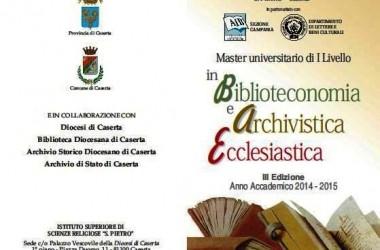 Master in Biblioteconomia ed Archivistica Ecclesiastica. Al via la III Edizione