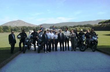 Polizia Municipale in motocicletta nel Parco Reale, il via al servizio di controllo.