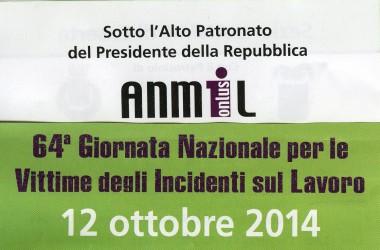 Caserta- Domani, Domenica 12 c.m., verrà celebrata la 64^ giornata nazionale per le vittime degli incidenti sul lavoro.