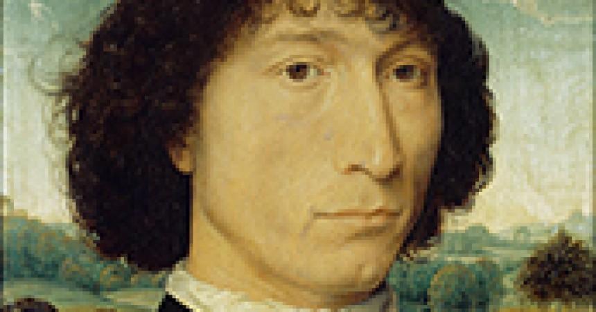 Memling, Hans (1425/40-1494): Portrait of Giovanni da Candida. Antwerp, Koninklijk Museum voor Schone Kunsten*** Permission for usage must be provided in writing from Scala.