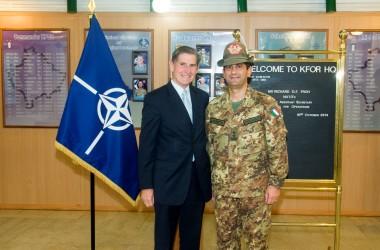 Il generale Figliuolo incontra il vice segretario generale della Nato.