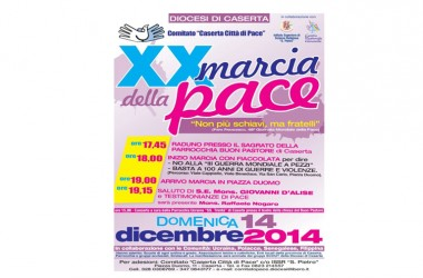 """XX Marcia della Pace per dire: NO alla """"III guerra mondiale a pezzi"""""""