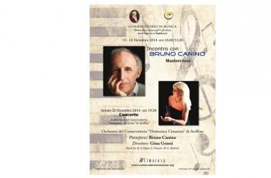 Sabato 20 alle ore19,30 Bruno Canino in concerto al Cimarosa