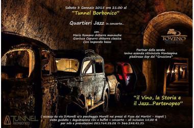 Il vino,la storia e il jazz… partenopero con Mario Romano quartieri jazz per un inizio d'anno davvero scoppiettante