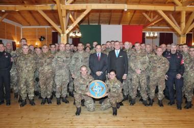 Il Sottosegretario di Stato alla Difesa On. Rossi in visita al Contingente Italiano in Kosovo