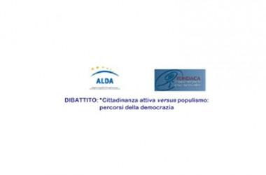 """Dibattito """"Cittadinanza attiva versus populismo: percorsi della democrazia"""""""