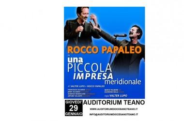 La comicità – tsunami di Rocco Papaleo pronta ad 'abbattersi' sulla città di Teano