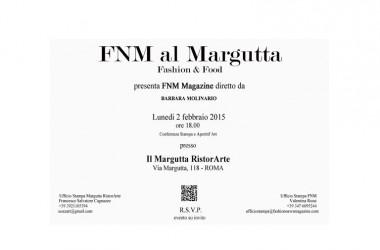 Fashion & Food per AltaRoma AltaModa: fashion news magazine al Margutta all'insegna delle giovani eccellenze italiane.