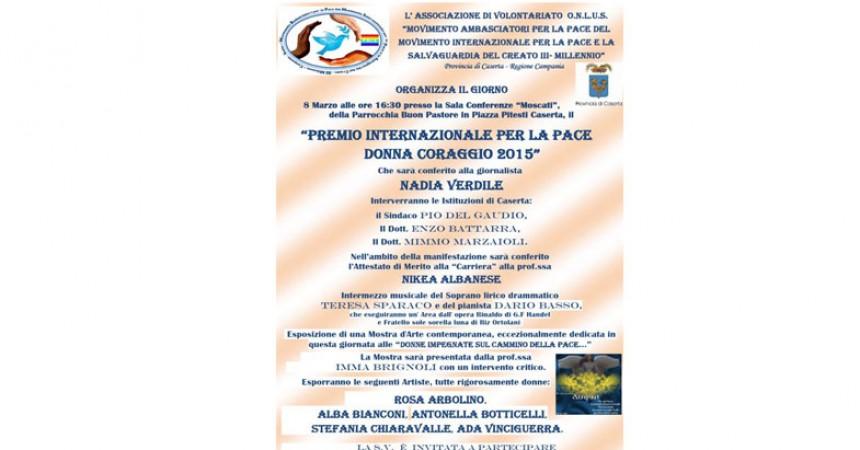 A Nadia Verdile il 'Premio per la Pace Donna Coraggio 2015'
