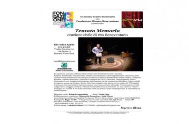 """Invito a teatro – """"Tentata memoria"""" spettacolo dedicato a Mimmo Beneventano a Summarte"""