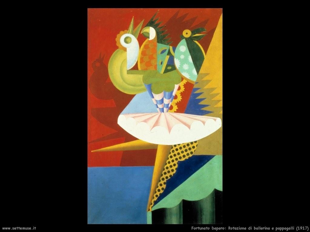 5 fortunato_depero_007_Rotazione_di_ballerina_e_pappagalli_1917