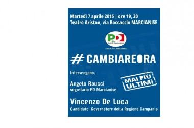 Vincenzo De Luca, candidato governatore della Regione Campania, verrà a Marcianise per illustrare il suo programma