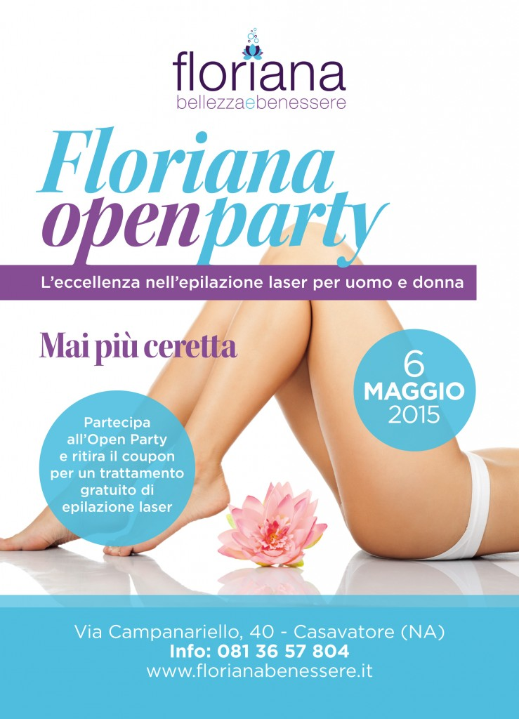 volantino floriana open party