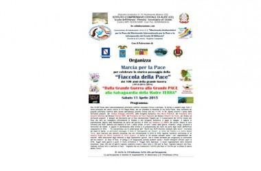 """Sabato 11 """"Marcia per la Pace"""" per celebrare lo storico passaggio della Fiaccola della Pace e la Salvaguardia della Madre Terra"""