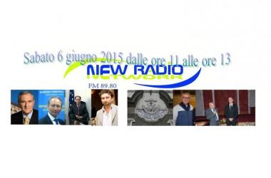 Politica e Cultura, doppio appuntamento a New Radio Network, sabato 6 giugno 2015 dalle 11 alle 13