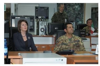 Il Presidente del Kosovo in visita a KFOR