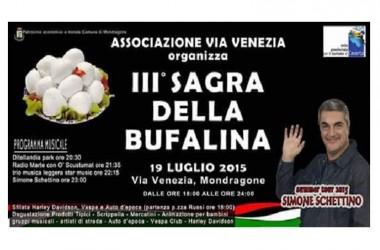 """MONDRAGONE. Terza edizione della sagra della """"bufalina"""" in via Venezia: ecco il programma"""