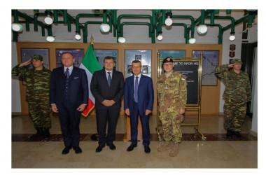Delegazione Commissione Politiche dell'Unione Europa del Senato in visita al quartier generale di KFOR