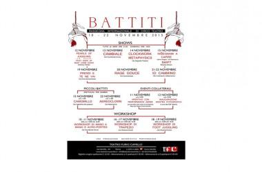 """""""Battiti"""", rassegna internazionale di circo teatro, 12-22 Novembre 2015 – Teatro Furio Camillo"""