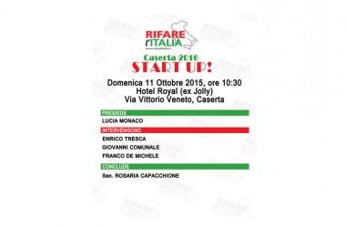 Rifare l'Italia inizia un percorso di confronto e dialogo con la Città di Caserta