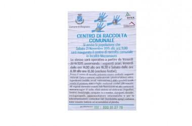 Alvignano:  inaugurazione isola ecologica