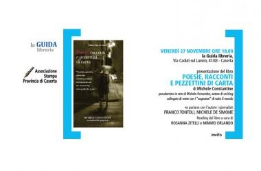 """Presentazione del libro:""""Poesie, racconti e pezzettini di carta"""" di Michele Constantine"""