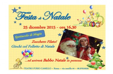 """""""La città del Natale"""" rassegna natalizia per bambini – Teatro Furio Camillo"""