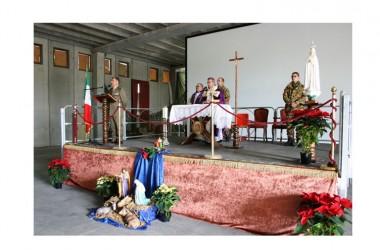"""Santa Messa di Natale al CAV – Celebrato il rito eucaristico alla Caserma """"Oreste Salomone"""""""