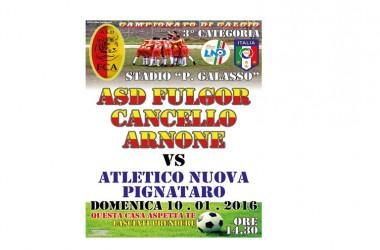 ASD Fulgor Cancello Arnone in campo contro Atletico Nuova Pignataro