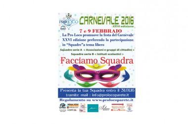 XXVI edizione del Carnevale di Parete, pronti a partire