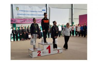 La ginnasta casertana Teresa Giuliano, si allena per la fase interregionale del campionato della Federazione Ginnastica d'Italia