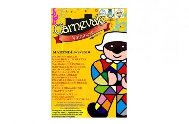 Ai nastri di partenza la XVI edizione del 'Carnevale Vairanese'