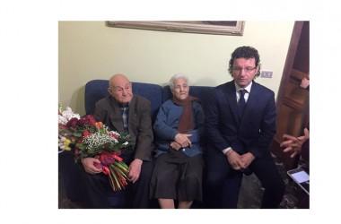Festa grande di San Valentino per Mauro e Maddalena Noce, insieme da 73 anni