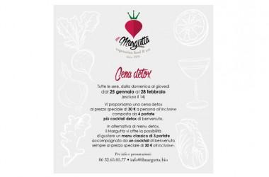 """Il Margutta – A Roma la cena diventa """"Detox"""": le proprietà della dieta disintossicante"""