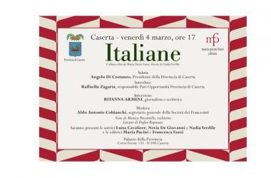 Italiane: la novità editoriale diretta da Nadia Verdile ed edita da Maria Pacini Fazzi