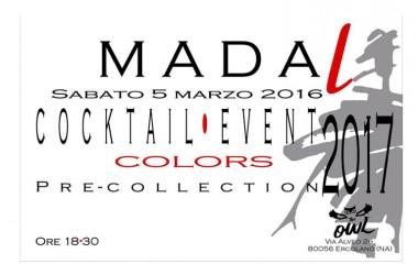 Invito Cocktail moda Madal- ospiti vip – 5 marzo