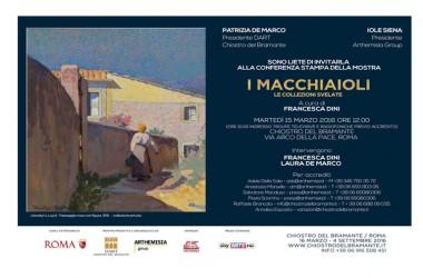 INVITO CONFERENZA STAMPA > I Macchiaioli. Le collezioni svelate > martedì 15 ore 12.00 > Chiostro del Bramante, Roma