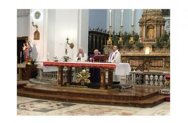Il Vescovo di Caserta, S.E. Mons. Giovanni D'Alise incontra gli studenti del Villaggio dei Ragazzi per il Precetto Pasquale