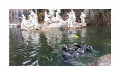 Reggia di Caserta. Da questa mattina pulizia straordinaria delle vasche del parco con il nucleo di protezione civile di Caserta