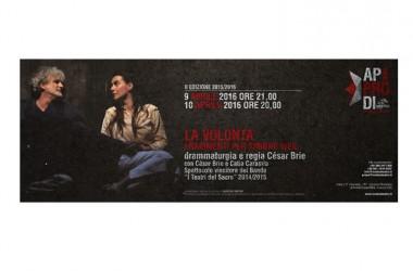 """Al Nostos Teatro di Aversa, chiude la seconda stagione """"Approdi"""" César Brie con """"La volontà – frammenti di Simone Weil"""", spettacolo vincitore de """"I Teatri del Sacro"""""""
