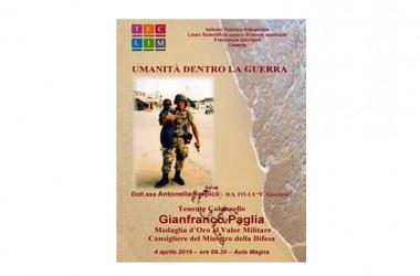 Il Ten. Col. Gianfranco Paglia incontra gli studenti del Giordani di Caserta.