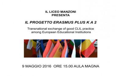 Invito oggi ore 15 al Liceo Manzoni