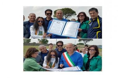 Santa Maria La Fossa(CE)- Mini Olimpiadi: Siglato il Patto di Pace tra il Sindaco Papa, il Movimento per la PACE e la Preside dell' IAC Gravante