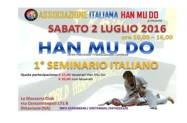 Nola, Primo Seminario italiano di Han Mu Do con i Maestri Pigna, Fusco e Caputi il 2 luglio