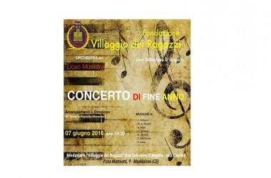 """Concerto di fine anno del Liceo Musicale: """"Villaggio dei Ragazzi"""""""