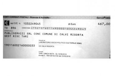500 euro di Tari ad un'Associazione Culturale. Accade a Calvi Risorta!!!