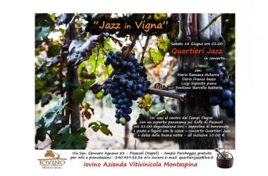 """Jazz in vigna"" sabato 18 giugno a partire dalle 21.00 secondo appuntamento con Mario Romano Quartieri Jazz"